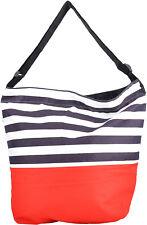 Big STREIFEN Retro Stripe Bag SHOPPER Tasche - Dunkelblau Rockabilly