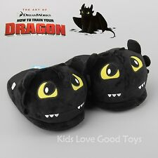 How to Train Your Dragon Unisex Night Fury Toothless Plush Slippers Shoes NWT