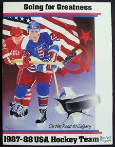 1987-88 USA HOCKEY TEAM YEARBOOK - TONY GRANATO * BRIAN LEETCH * KEVIN STEVENS