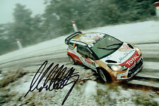 Mads OSTBERG WRC Norwegian Rally DRIVER SIGNED AUTOGRAPH 12x8 Photo AFTAL COA