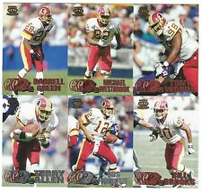 1997 Pacific Silver & Copper Washington Redskins 6 card lot