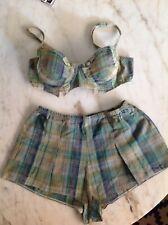 Rare Vintage Victorias Secret Lingerie Set ~ Bra And Tap Pants ~ Cotton ~ PinUp
