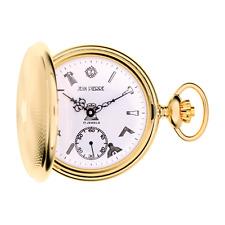 Diseñador Jean Pierre de Suiza Chapado En Oro Cazador Reloj Bolsillo Masónico