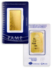 PAMP Suisse 1 Oz Gold Bar New Design - Sealed w/Assay Cert SKU32617
