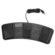 Gaming USB HID Fu?pedal Fu?schalter Fu? Taster Pedal 3 Pedale für PC Computer