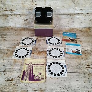 Sawyer's View-Master Model E Bakelite Stereoscope Viewer Vintage With Reels USA