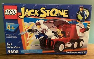 LEGO 4605 - JACK STONE Fire Response SUV; Retired; BRAND NEW IN BOX; Unopened