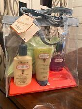 New Yardley London Apothary Naturals Bath Kit Gift Set Body Scrub Lotion Wash