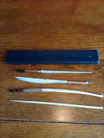 ANTIQUE VINTAGE INK DIPPING PENS, LETTER OPENER AND PAGE TURNER,LOT OF 4