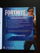 Fortnite Bomber Skin 500 V Bucks Playstation 4 PS4 Digital DLC Code EU DE ENG FR