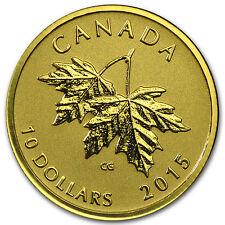 2015 Canada 1/4 oz Gold $10 Maple Leaf (1990 Queen Effigy) - SKU #93199