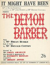 It Might Have Been from The Demon Barber - 1959 Sheet Music