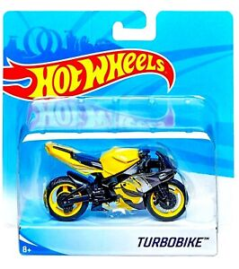 Hot Wheels Motorcycle TURBOBIKE 1:18 Scale YELLOW Street Bike