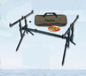 Top 3er Rod Pod Tele Komplett Rutenständer Rutenhalter Angel Ständer