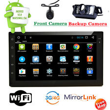 Android 6.0 4G WIFI Double 2DIN Car Radio Stereo DVD Player GPS OBD BT+2 CAMERAs