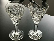 "Set of 2 Waterford Crystal TEMPLEMORE Pattern Stemware 6.25"" Claret Wine Glasses"