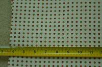 "18"" Long x 34"" Wide, Vintage 1940's-60's Colorful Dots on Cream Cotton, C1889"