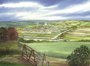 Cynheidre Colliery, Carmarthenshire - Greetings Card - Tony Paultyn