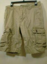 Old Navy 30 Dark Tan Cargo Shorts Outdoors Hiking Fishing Sports Work Job
