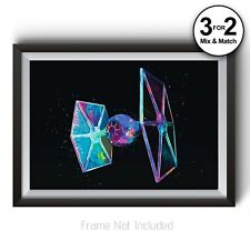 Star Wars TIE Fighter Poster - Classic Movie Abstract Painting Wall Art Prints