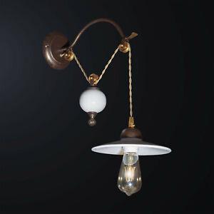 Applique Classic Rustic With Pulley Ceramic 1 Light Bga 3068-a1