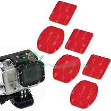 6X Adesivo 3M piatto+curvo sticker per GoPro Hero 2 3 3+ HD Action Camera Sport