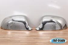 1 Set Edelstahl Spiegel Kappen Chrom für Audi A3 A4 A5 A6 A8 Q3 Zierkappen 2008