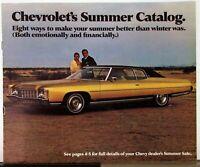 1971 Chevrolet Summer Catalog Color Sales Brochure Mailer Original