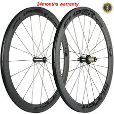 50mm Carbon Wheelset Powerway R36 Hub Sapim CX-Ray Spokes Carbon Wheelset 700C