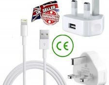 Mains Charger USB Wall Plug / Charging Cable for iPhone 6s 5 5s 7 SE iPad UK