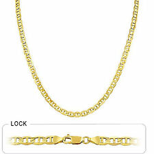 "4.60mm 22"" 19.50gm 14k Gold Yellow Men's Mariner Concave Polished Chain Necklace"