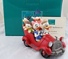 """WDCC """"Family Vacation"""" Donald, Daisy, Huey, Dewy and Louie in Box with COA"""