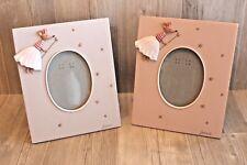 2 cadres photo en céramique rose - fille - Jacadi - avec la petite fée souris
