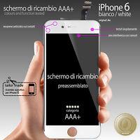 "TOUCH SCREEN + LCD RETINA IPHONE 6 BIANCO (4,7"" DISPLAY COMPLETO PREASSSEMBLATO)"