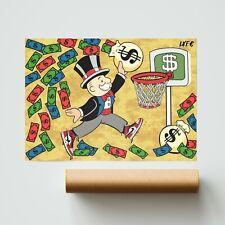 More details for air jordan x monopoly art (poster print) alec monopoly inspired - pop wall art
