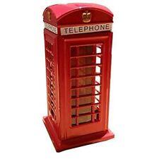 Telefon Booth Rot Karton London-Souvenir Druckguss Metall Spardose Geschenk S109