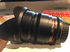 Samyang 16mm F2 T2.2 Cinema Canon EF lens ultrawide Manual