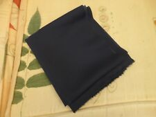 New Blue Satin Back Crepe Fabric  30cm Long  x  1.47 Metres Wide