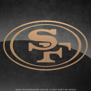 """San Francisco 49ers NFL Vinyl Decal Sticker - 4"""" and Larger - 30+ Color Options!"""