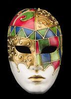Maschera Di Venezia Viso Mosaico Prestige IN Carta Pesta Con Oro 2154 VG2