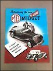 1950 MG TD Midget and 1.25 Litre Vintage Original Car Sales Brochure Foldout