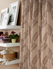 "Bespoke Curtains 152""wX81""d JACQUARD Taupe Gold Beiges & Laura Ashley Tiebacks"
