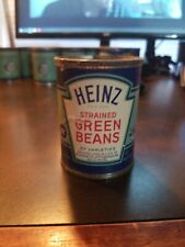 Vintage Heinz 57 Strained Baby Food Paper label Tin Can~ Strained Green Beans