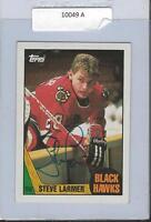 Steve Larmer 1987 Topps Autograph #59 Blackhawks