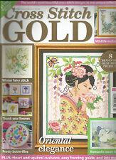 CROSS STITCH GOLD,    MARCH, 2014  ( WINTER FAIRY STITCH * ORIENTAL ELEGANCE )