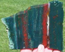 BLOOD STONE SLAB 150 grams Rock/Mineral/rough/jasper/agate/cab/specimen/gem