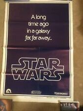 STAR WARS *1977 ORIGINAL MOVIE POSTER STYLE B TEASER 77/21-0 AUTHENTIC