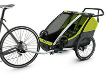 Thule Chariot Cab 2, grün/grau, Kinderanhänger, Fahrradanhänger, großer Stauraum