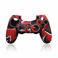 Custodia Cover Silicone per Controller Joypad Sony PlayStation 4 PS4 Nero Rosso
