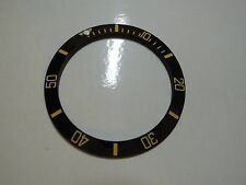 Gold Submariner Ceramic Bezel Insert Compatible With R0lex 116610 116613 116619